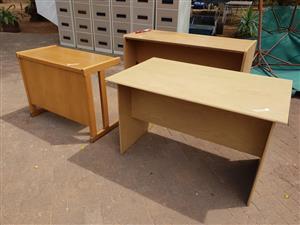 3 Light wooden desks for sale