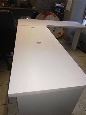 L Shaped Office White Desk