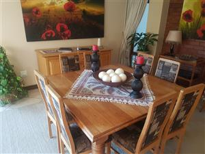Solid Oak 8 seater dinning room set