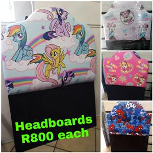 Kiddies Headboards in Disney with two small pillows brand new @ R999 on special