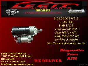 MERCEDES W212 STARTER  FOR SALE