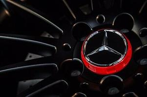 Mercedes Benz AMG Style Center Wheel Caps 75mm (4pcs)- Red and Black Available