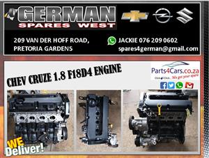 CHEV CRUZE 1.8 F18D4 ENGINE FOR SALE