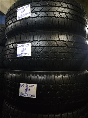 We have good quality brand new and second hand on sale (95% Thread) run flat and non run flat tyres