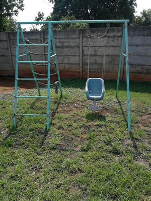 Green swing set for sale