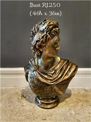 Golden painted bust for sale