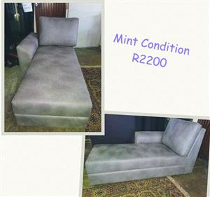 Mint condition gray recliner couch