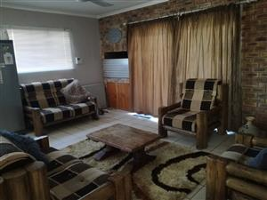 Sleeper Wood Lounge Suite for sale