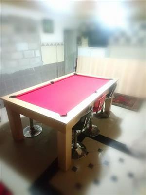Oak slate pool table for sale.