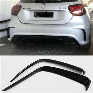 Mercedes A45 AMG Style Rear Canards Spoiler (2pcs) - Gloss Black