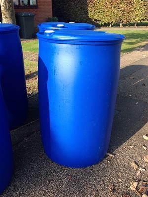 Blue plastic drums for sale