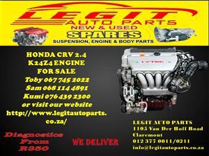 HONDA CRV 2.4 K24Z4  ENGINE FOR SALE