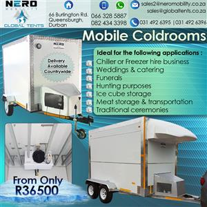 Mobile Coldrooms-fixed coldrooms- fridges - Mobile Kitchens- Mobile toilets