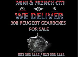 PEUGEOT 308 GEARBOX FOR SALE @MINI&FRENCHCITI We deliver Nationwide