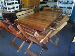 Wooden 8 Seater Patio Set
