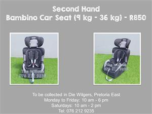 Second Hand Bambino Car Seat (9 kg - 36 kg)