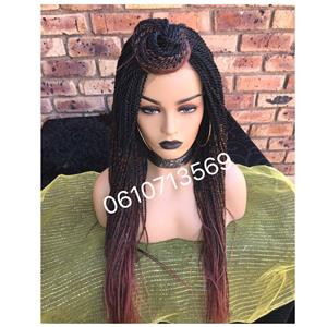 Stunning 27/35 lace front twist wig