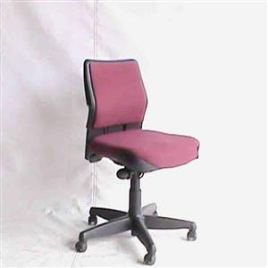 Medium back office chair maroon