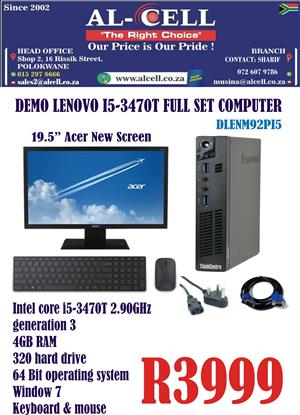 Demo Lenovo I5 -3470T Full Set Computer