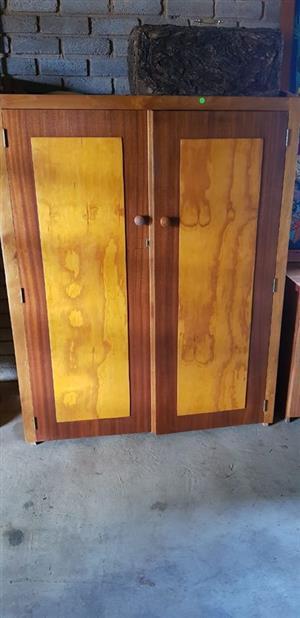 2 Door wooden closet for sale
