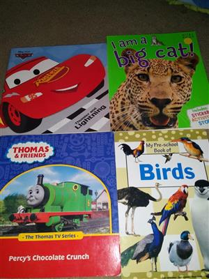 Kiddies cars and animal books for sale