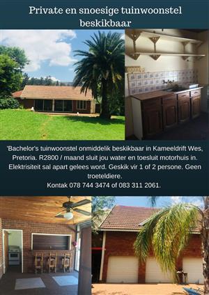 Snoesige, bekostigbare en private tuinwoonstel beskikbaar in Kameeldrift Wes
