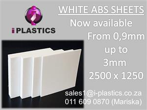 WHITE ABS SHEETS 2500 X 1250
