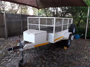 Commercial 1 ton braked trailer