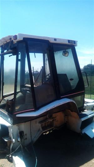 CAT 416D glass cab