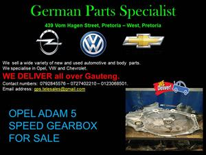 OPEL ADAM 5 SPEED GEARBOX FOR SALE