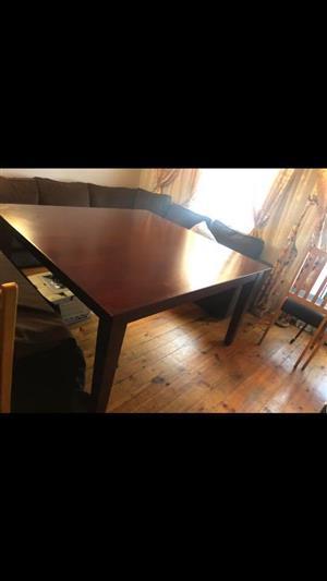 Fin-edge solid mahogany table