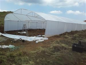 Greenhouses for new installation and repairs of old structures for vegetable tunnels, back yards nursery with clear 200 micron plastic for affordable prices