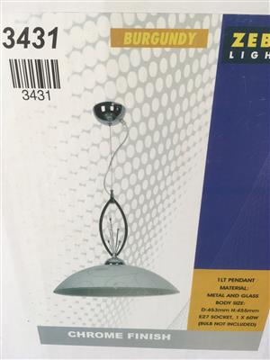 Brand New Light and Glass Shade (pendant)