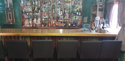 Large Bar with 8 chairs forsale