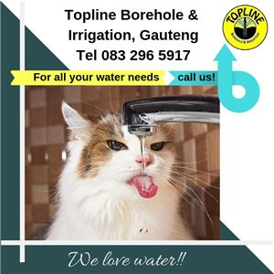 For all your water needs in Gauteng, contact Topline Borehole & Irrigation