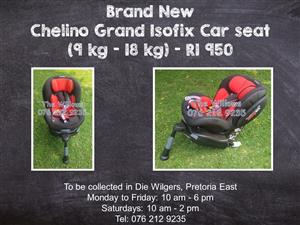 Brand New Chelino Grand Isofix Car seat (9 kg - 18 kg)