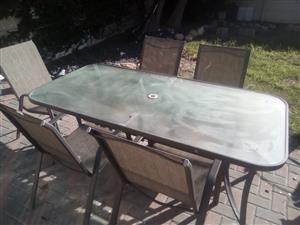 Patio Table with x5 Chairs