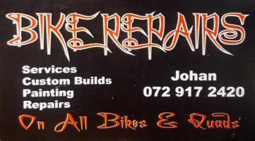 Bike services, custom builds, painting & repairs