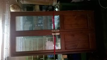 Double timber and glass door