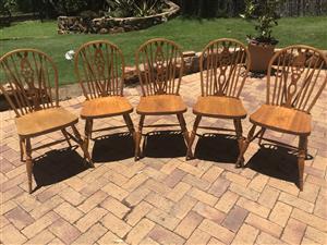 Oak chairs X5- solid oak.