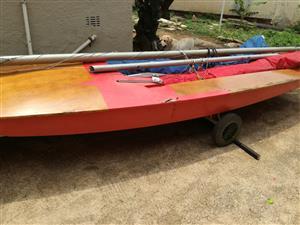 Fireball Wooden Sailboat