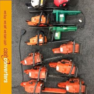 various chainsaws ranging from R700 to R3200