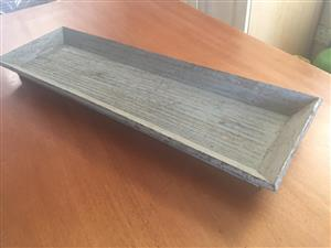 Grey solidwood distressed paint finish Table top tray - perfect for the coffee table!