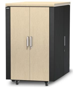 NetShelter CX 24U Secure Soundproof Server Room in a Box Enclosure