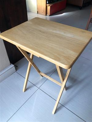 Boardmans Oak / Maple Solid Wood Folding Table / desk