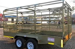 round barred cattle trailers very solid and ready to transport ( Trailer in Good shape )