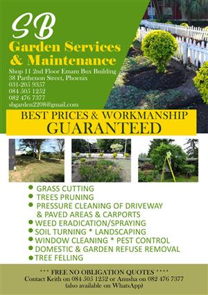 GARDEN SERVICES AND TREE FELLING