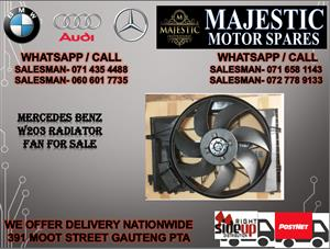 Mercedes benz W203 radiator fan for sale
