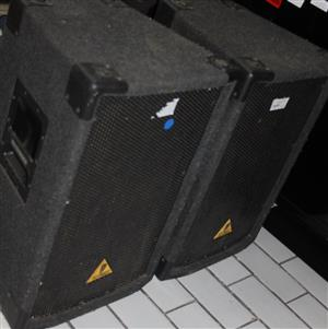 S034254A 2 X Behringer b1220 2 way pa loud speakers #Rosettenvillepawnshop