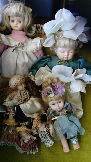 Porcelain Dolls Assorted Sizes